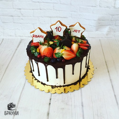 №376 Торт с ягодами