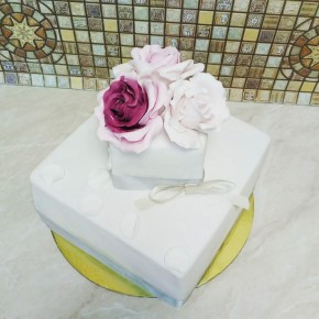№413 Торт на свадьбу 1 ярус