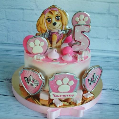 №453 Торт дочке с собакой