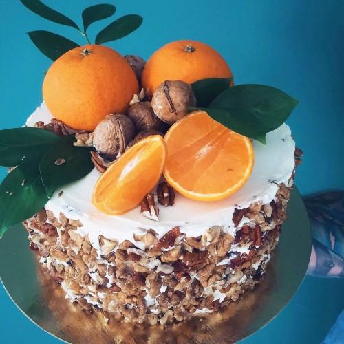 №157 Торт с мандаринами