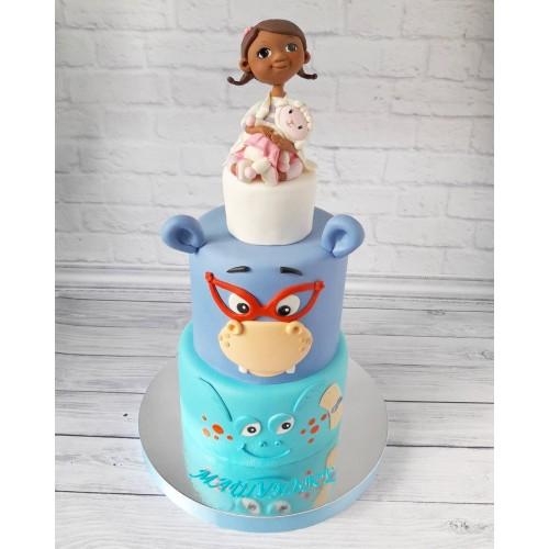 №481 Торт для дочке двухъярусный