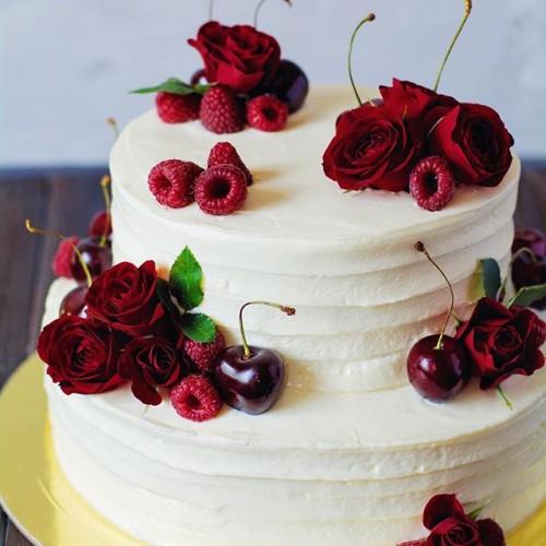 №75 Торт Красные цветы