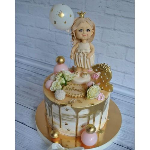 №450 Торт девочке с куклой