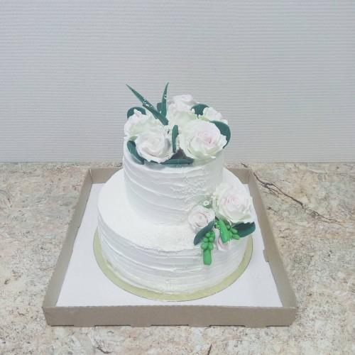 №421 Свадебный торт 2 яруса
